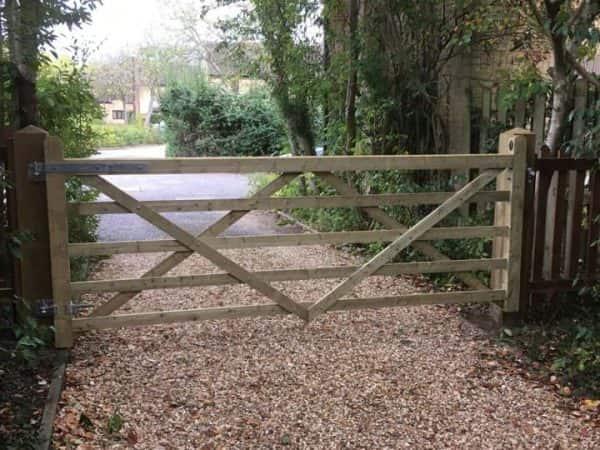 short wooden driveway gate