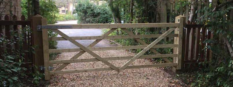 wooden hinged gate P Norris