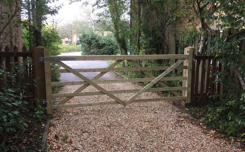 wooden hinged gate P Norris